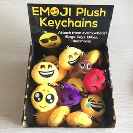 Wholesale Bike Dolls - Emoji Plush Keychains Cute Expression Dolls Keychain Different Face Emoji Keychains Kids Toy Attached Bag Keys Bikes