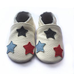 Wholesale Infant Leather Walking Shoes - Most popular wholesale genuine leather baby shoes soft sole baby leather shoes infant baby walking shoes