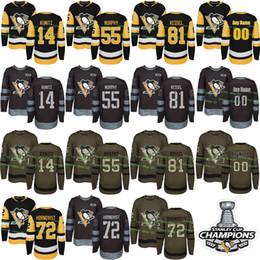 Custom Mens Womens Kids 2017-2018 New Logo Pittsburgh Penguins 14 Chris  Kunitz 55 Larry Murphy Patric Hornqvist Phil Kessel Hockey Jerseys 9e44bd2d0