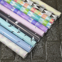 Wholesale Gift Wrapping Books - New Book Wrapping Paper 6 Rolls Books Packaging Supplies Gift Box Package Paper Gift Wrapping Paper