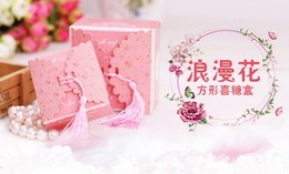 Wholesale Dreams Chinese - 2016 Dream Catcher Magnetic Levitation Levitation Romantic Flower Square Candy Box Wedding Favor Boxes Luxury Squareness Party Favors Gifts