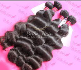 Wholesale Cheap Quality Hair Extensions - Cheap Brazilian Hair Extensions 100% Wavy Brazilian Peruvian Malaysian BodyWave 3Pcs Human Hair Weaves Weft 7A Top Quality Bella Hair
