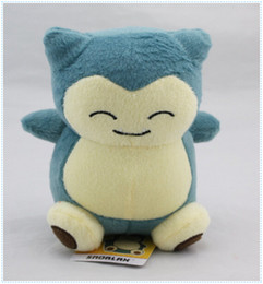 "Wholesale Wholesale Stuffed Animal Baby - Free Shipping Poke Pocket Monsters Snorlax 6"" 15cm Plush Doll Stuffed Toy Pikachu Animals For Baby Gifts"