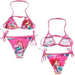 mignonne fille cosplay Promotion Cute Kids Child Beauty Maillots de bain de Bikini Girl Beach Swiwear Cosplay Costume pour 2-10t Livraison gratuite