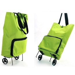 Wholesale Portable Shopping Trolley - Bearing 8kg 20L folding New Japanese household portable shopping trolley bags foldable oxford large capacity reusable bag on wheels for moms
