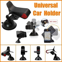 Wholesale Cheap Car Windshields - Wholesale 500pcs Cheap Cell Phone Mounts Holders Universal 360 Degree Rotating Windshield Car Sucker Holder Stands For Phones GPS PSP DHL