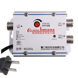 Wholesale Cable Amplifier Signal Booster - Free Shipping SB-8620D8 93CM TV VCR Signal Booster Cable AMP Amplifier CATV Home Shop Workplace 220V 2W Signal Amplifier e5m1 order<$18no tr