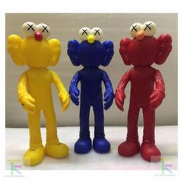 Wholesale Kaws Doll - Demishop New Kaws Thailand Bangkok Exhibition Sesame Street Kaws BFF PVC Action Figure Doll Toy Collections