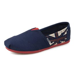 Wholesale Shallow Mouth Canvas - 2016 foreign flag canvas shoes low shallow mouth lovers slip-on Thomas shoes manufacturers wholesale and retail