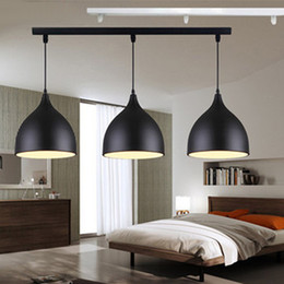 three head pendant light Coupons - Restaurant lamps Aluminum tulip ceiling lamp lights a bag Nordic classic combination meals chandeliers E27 Three single-head chandelier