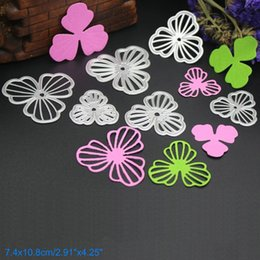 Wholesale Papers Flowers - Shell Flower DIY Metal Cutting Dies Stencil Scrapbook Card Album Paper Embossing Crafts
