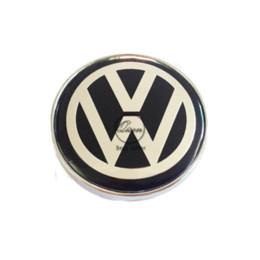 Wholesale Vw Jetta Emblem - 4 X 60MM BLACK CAR WHEEL Hub Center LOGO Caps Metal Aluminum emblem Fits for VW Golf 6 Jetta MK5 MK6 POLO