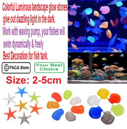 Wholesale Fish Tank Landscape Glow Stones Aquarium Luminous Stone Decorate Fish Turtle Tank have ornamental value