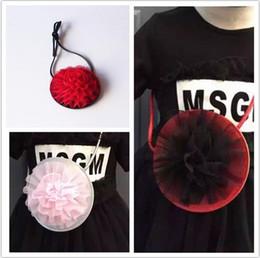 Wholesale Sunflower Flower Girls Dresses - Girls 3D dress skirt flower bag party Halloween accessory candy bag sunflower bags 4 colors