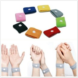 Wholesale Motion Sickness Bands - 1500Pcs lot Anti nausea Wrist Support Sports cuffs Safety Wristbands Carsickness Seasick Anti Motion Sickness Motion Sick Wrist Bands