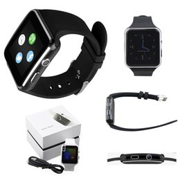 Wholesale Wholesale Mobile Display - X6 Smart Watch Bluetooth HD Curved Screen Smart Watches Smartwatch Display Sync For Samsung Apple Android Mobile Phones Support SIM TF Card