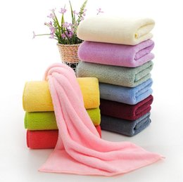 Wholesale Hair Dryer Hand - Coral Fleece Towel 35*75cm Face Bath Towel Washcloth Soft Hand Hair Towels Plain Quick Dry Towel Bathroom c158