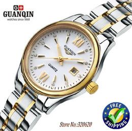 Wholesale Guanqin Watch Ladies - Watches women fashion luxury watch Brand GUANQIN Ladies Quartz wristwatches waterproof Steel dress watches women watch