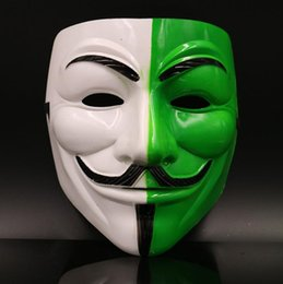 Wholesale Hot Guys Fashion - Hot Sale Halloween Costume Party Mask Fashion PVC V for Vendetta Guy Fawkes Multi Colors Mask Anonymous
