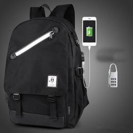 Wholesale China Printing Usb - Men Backpack Fashion External USB Charging Laptop Mochila Cartoon Anime Student Luminous School Bags For Teenagers