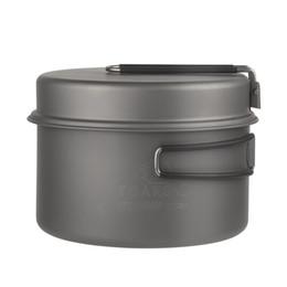Wholesale Titanium Outdoor Cookware - Toaks Titanium Cookware Cooking Picnic Outdoor Camping Titanium Pan Pot Set Portable Cookware Folding Handle Ckw -1350