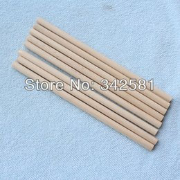Wholesale Wholesale Wood Dowels - Free Shipping New Arrive 50 pcs Natural Wood Dowel Birch 6x140 mm For Holloween or DIY
