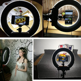 Wholesale Led Lights Panel Video - Youtuber LED Ring Light Panel Inner 235mm Outer 345mm Make Up White Lighting Eeys Light Adjust Brightness for Live Video and Blog Video
