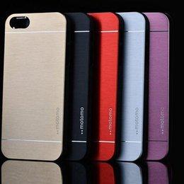 Wholesale Iphone5 Case Brushed Aluminum - New Fashion Ultra Slim Aluminum Brushed Metal Hard Back Cover Case For iPhone5 5S Shipping XCA0104