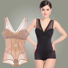 Wholesale Thin Light Bra - Wholesale-2016 Hot Shapers Autumn And Winter Fashion Sexy Bodysuit Bra Abdomen Waist Triangle Corset Dress Conjoined Thin Body Clothing