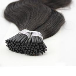 Wholesale Dark Auburn Wavy Hair Extensions - Body Wave Keratin Pre bonded I Stick Tip Brazilian Human Hair Extensions Wavy 100g strands 1g Strand 100g