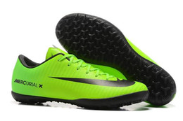 Wholesale Cheap Boots For Kids - Cheap Mercurial Victory XI IF Kids Soccer Shoes Online Youth Children Mercurial Victory XI TF Soccer Cleats Men Womens Soccer Boots for Sale