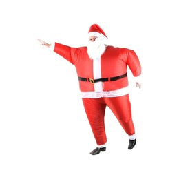 Wholesale Hot Santa Costume - 2016 hot sale high quality inflatable Santa costume festival party dress free shipping cosplay