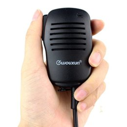 Wholesale Kenwood Handheld Radio Uhf - Tow Way Radio Mini Handheld Microphone Mic PTT Speaker for Walkie Talkie Kenwood WOUXUN PUXING HYT BAOFENG TYT Radios