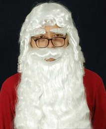 Wholesale Eyebrow Pictures - 100% Free Shipping Brand New High Quality Fashion Picture wigs>>Santa Claus Costume Accessory Set - Beard, Wig and Eyebrow