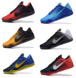 Wholesale Ivory Mid Heels - 2016 high quality Kobe XI 11 men Low bhm Achilles Heel Mens Basketball Shoes 100% Original For sale Kobe 11 Elite 7-11