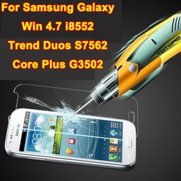 Wholesale Screen Protector Galaxy Trend S7562 - Wholesale-Tempered Glass Real Glass Front Screen Protector film For Samsung Galaxy Win i8552 Trend Duos S7562 Core Plus G3502 RETAIL BOX