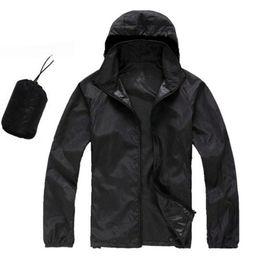 Wholesale Wholesale Men Women Jackets - Wholesale- 2016 new Men's brand high-quality Softshell skin coat Sunscreen protection waterproof UVproof women Utralthin outwear jacket