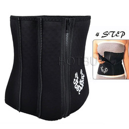 Wholesale Tummy Shaping Belt - New Slim Trimming Waist 4 Steps Belt Sweat Sauna Tummy Abdomen Weight-loss Slimming Belt Body Beauty Shape #4182