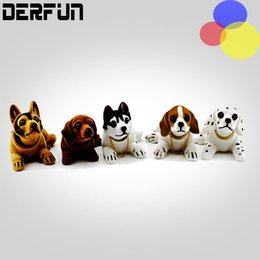 Wholesale Shaking Head Dolls - New Car Styling Cute Bobblehead Dog Doll Car Nodding Dog Shakes His Head Shaking Dog For Car Decoration Furnishing Articles