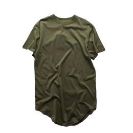 Wholesale Arc Red - 2016 New Summer Mens Fashion Extended Shirt Arc Cut Hi-Street Hip Hop T Shirt 100%Cotton Short Sleeve Man Long Tee Shirts