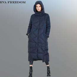 Wholesale Woman Winter Jackets Hoody - High Quality 2017 Fashion Women Parka Winter Jacket Female X-Long White Duck Down Parkas Coat Thick Hoody Winter Down Coat