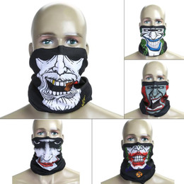 Шейный платок bandana онлайн-Wholesale- Skull Bandana Bike Cycling Mask Autumn Winter Various Design Magic Tube Headband Muffler Scarf Outdoor Neck Face Mask Headwear