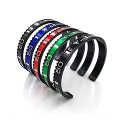2019 braccialetto dei braccialetti dei braccialetti Classico nero placcato tachimetro ufficiale Dia bracciale uomini Bracciale Bangles in acciaio inossidabile 316l tachimetro lunetta bracciale gioielli da uomo