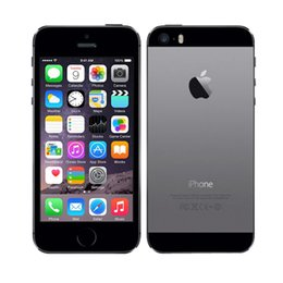 Wholesale Iphone 5s Cellphones - Authentic Refurbished iPhone 5s 4inch 1GB RAM 16GB 32GB 64GB ROM 8MP camera iphone6 Dual Core with Fingerprint Unlocked Cell Phone