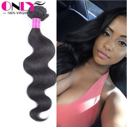 Wholesale Indian Bodywave Hair - 1Pc Human Hair Weft Peruvian Virgin BodyWave Hair Products Top Grade Virgin Unprocessed Human Hair Weave Cheap Peruvian Body Wave Bundle