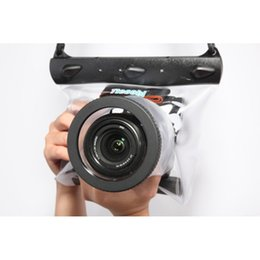 Wholesale Dslr Camera Housing - Tteoobl GQ-518M Underwater Diving Camera Housing Case Pouch Dry Bag Camera Waterproof Dry Bag for Canon Nikon DSLR SLR