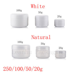 Wholesale Glass Skin Care Container - 20g 50g 100g 250g empty skin care cream plastic container , cosmetic cream jars for personal care ,unguent bottles ,pot ,canning