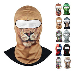 Wholesale Thin Beanie Wholesale - Fantastic Thin Stretchable Outdoor Cycling Ski Balaclava Windproof Neck Hood Full Face Mask Hat Beanie Animal
