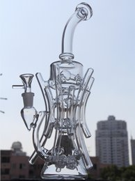 Wholesale Broken Pipe - Two function New recycler glass bong hot bongs roots water pipe boro bong Hill side glass oil rig break dab dabs recycler Killa glass