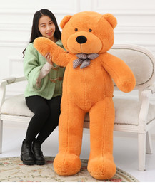 Wholesale Kids Giant Teddy Bears Toys - Giant Teddy Bear Plush stuffed toys animals kid dolls with high quality Valentine's Day gift Free shipping